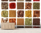 Indian Spice Selection wall mural living room preview