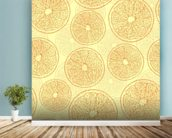 Abstract Oranges wall mural in-room view