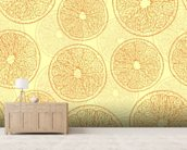 Abstract Oranges wall mural living room preview