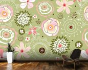 Floral wall mural kitchen preview
