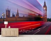 London - The Bus Lane mural wallpaper living room preview
