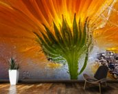 Frozen Marigold mural wallpaper kitchen preview