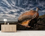Old Boat mural wallpaper living room preview