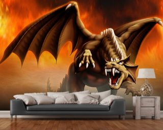 Dragon Attack wall mural