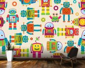 Cute Robots wall mural kitchen preview