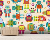Cute Robots wall mural living room preview
