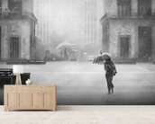 Hard Rain is Gonna Fall wallpaper mural living room preview