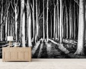Ghost Forest wall mural living room preview