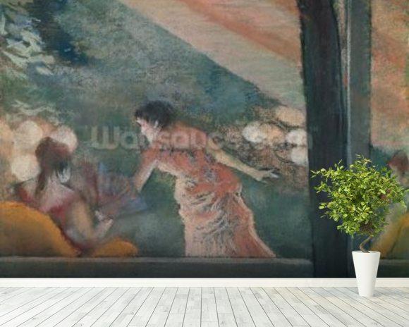 Degas edgar cafe concert at the ambassadeurs wall for Concert wall mural