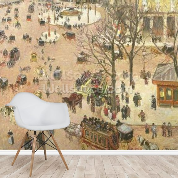 Place du Theatre Francais, 1898 (oil on canvas) wall mural room setting