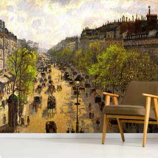 Boulevard Montmartre, Spring, 1897 (oil on canvas) Wallpaper Wall Murals