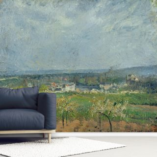 Landscape in Pontoise, 1877 (oil on canvas) Wallpaper Wall Murals