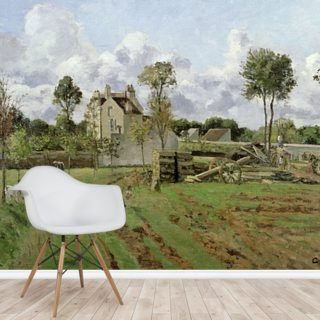 Landscape, Louveciennes, c.1872 (oil on canvas) Wallpaper Wall Murals