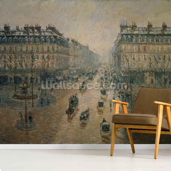 Avenue de LOpera, Paris, 1898 mural wallpaper room setting