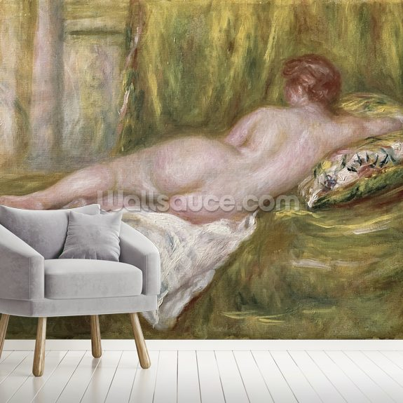 Reclining Nude from the Back, Rest after the Bath, c.1909 (oil on canvas) wallpaper mural room setting