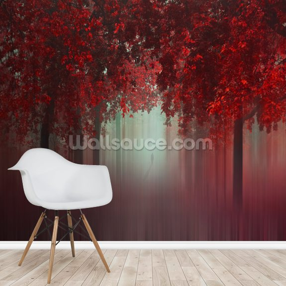 Out of Love mural wallpaper room setting