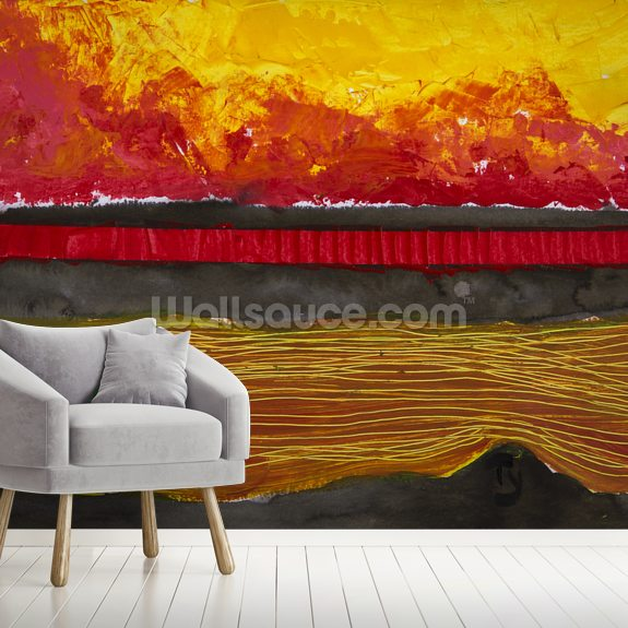 Painting of a Colourful Sunset wall mural room setting
