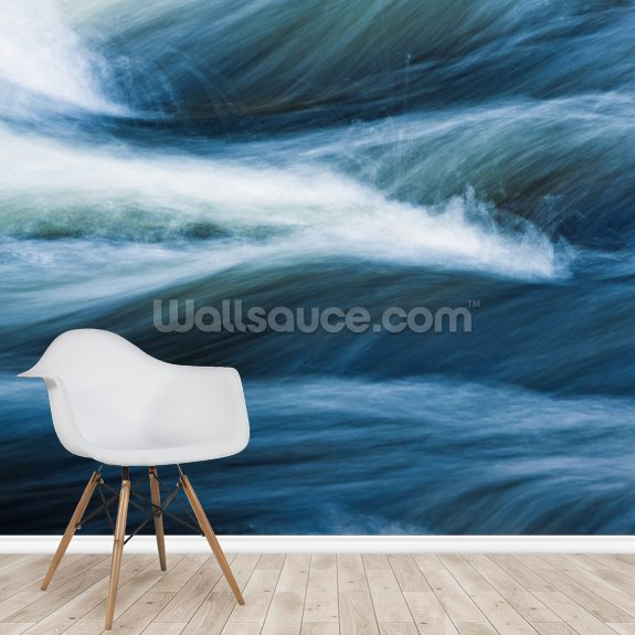 Vermont, Jamaica State Park, West River, Abstract mural wallpaper room setting