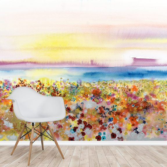 Field Of Joy mural wallpaper room setting