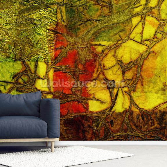 Rhapsody Of Colors 42, Abstract Art wallpaper mural room setting