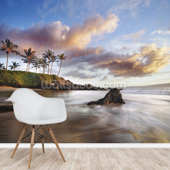 Maui Makena Beach wall mural room setting