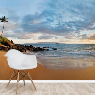 Hawaii, Maui, Makena, Secret Beach At Sunset 2 Wallpaper Wall Murals