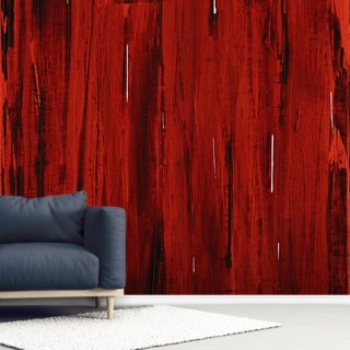 Rain - Abstract Painting In Red And Black
