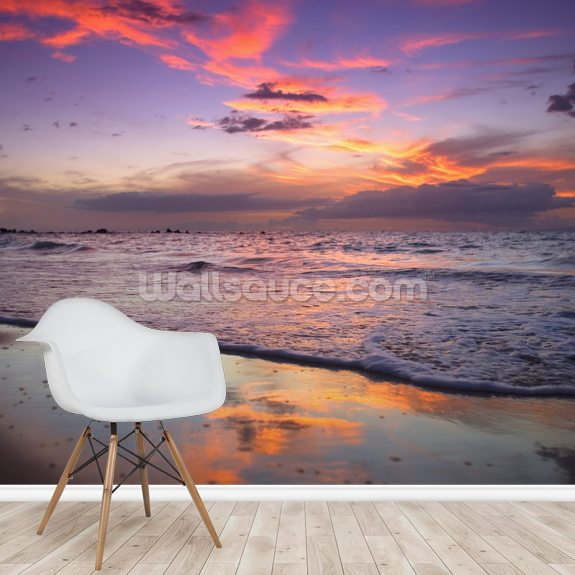 Mokapu Sunset wallpaper mural room setting
