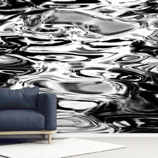 Abstract Water Reflection - Black And White