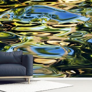 Abstract View Of Colorful Reflections On Calm Water