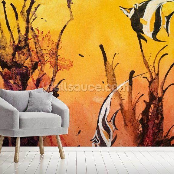 Fiji Islands Rainbow Reef wallpaper mural room setting