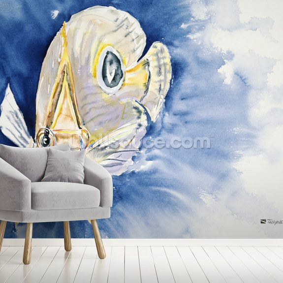 Four Eyes At Ya - Four Eye Butterflyfish wall mural room setting
