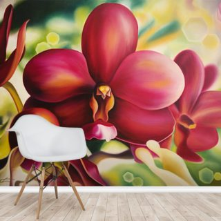 Beautiful Red Orchid Wallpaper Wall Murals