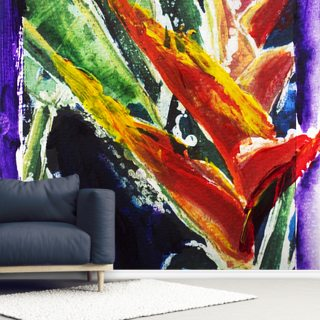 Heliconia - Batik On Rice Paper