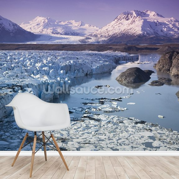 Knik & Colony Glacier Matanuska Valley Chugach Mountains wallpaper mural room setting
