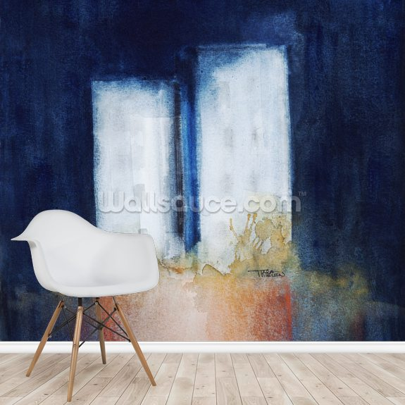Abstract Watercolour Painting mural wallpaper room setting