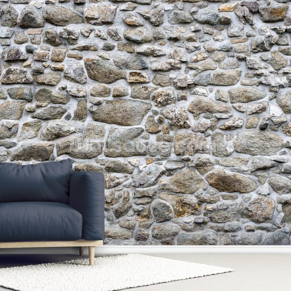 Old Stone Texture Mural Wallpaper Room Setting