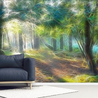 Light Shadow Trees Wallpaper Wall Murals
