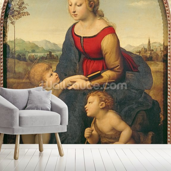 La Belle Jardiniere, 1507 (oil on panel) wall mural room setting