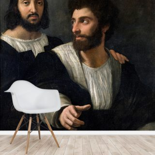 Self Portrait with a Friend (oil on canvas)