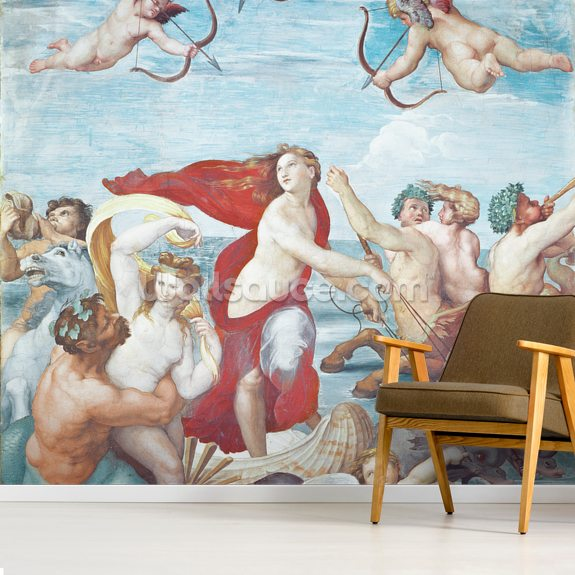 The Triumph of Galatea, 1512-14 (fresco) wallpaper mural room setting