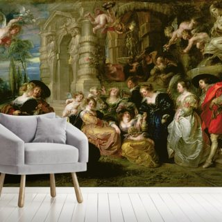 The Garden of Love (oil on canvas) Wallpaper Wall Murals