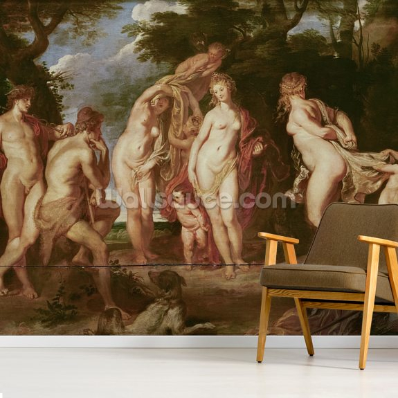 Judgement of Paris, c.1605 (oil on canvas) wall mural room setting