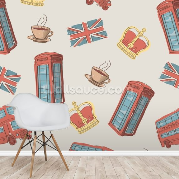 London Symbols wallpaper mural room setting
