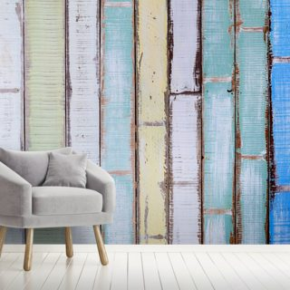 Old Vintage Wood Textured Wallpaper Wall Murals