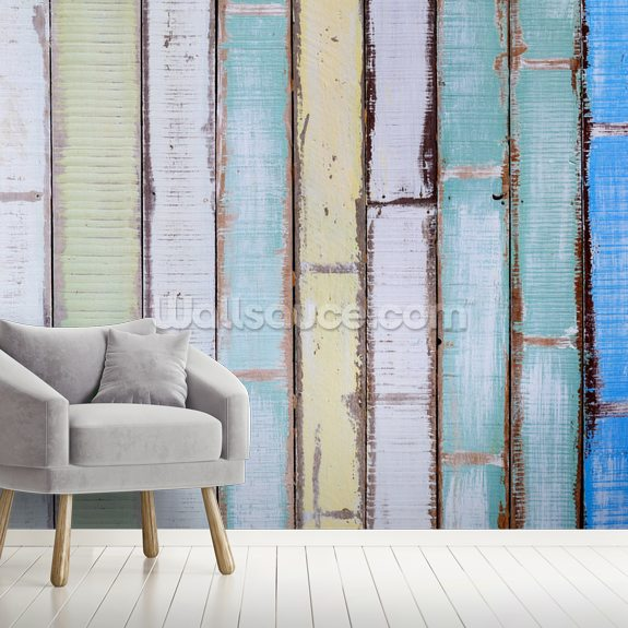 Old Vintage Wood Textured wallpaper mural room setting