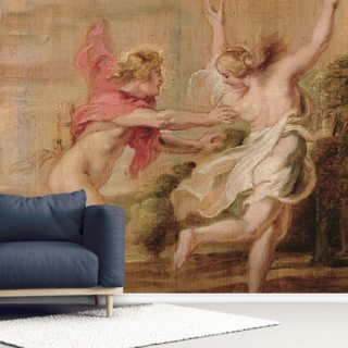 Apollo and Daphne, c.1636 (oil on panel) Wallpaper Wall Murals