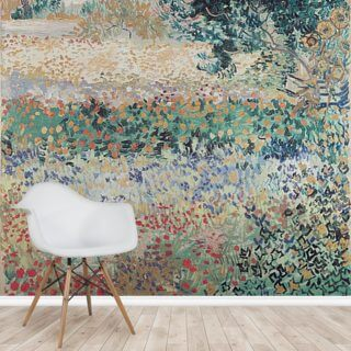 Garden in Bloom, Arles, July 1888 (oil on canvas) Wallpaper Wall Murals