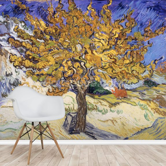 Mulberry Tree, 1889 (oil on canvas) wallpaper mural room setting