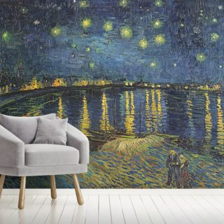 Starry Night over the Rhone, 1888 (oil on canvas) Wallpaper Wall Murals
